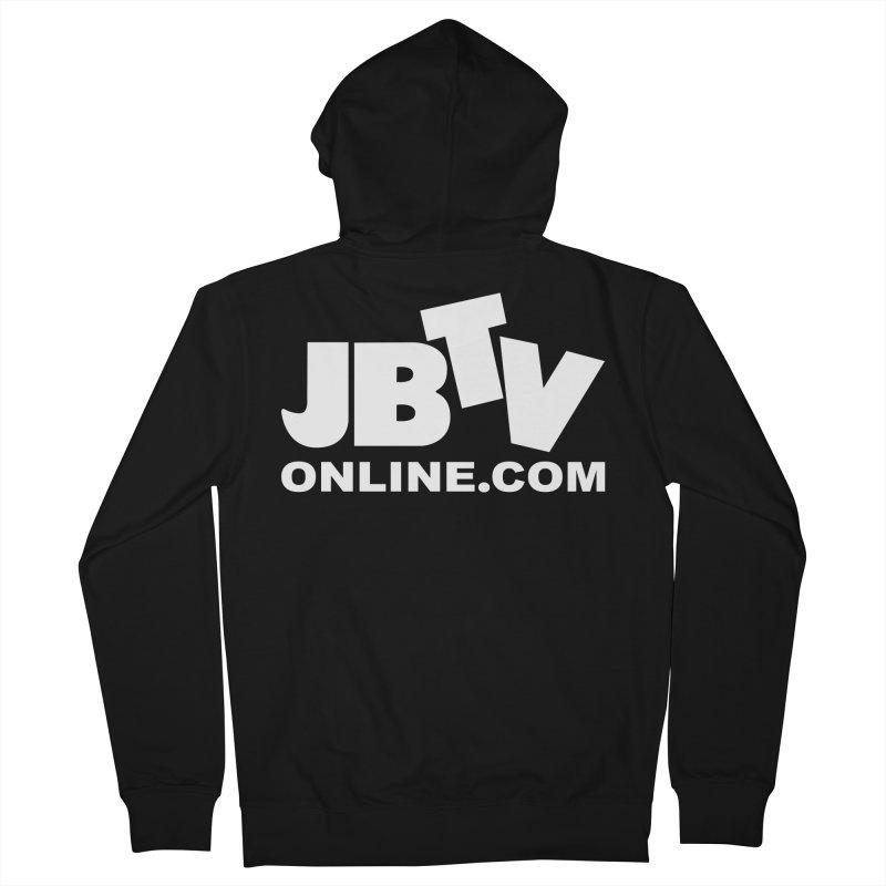 JBTV White Logo Men's Zip-Up Hoody by JBTV's Artist Shop
