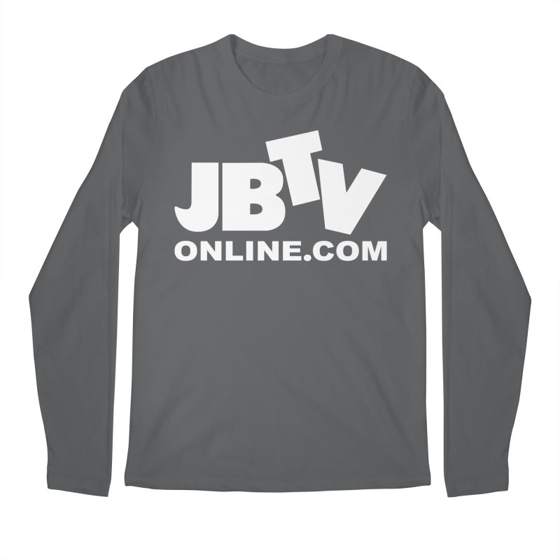 JBTV White Logo Men's Regular Longsleeve T-Shirt by JBTV's Artist Shop