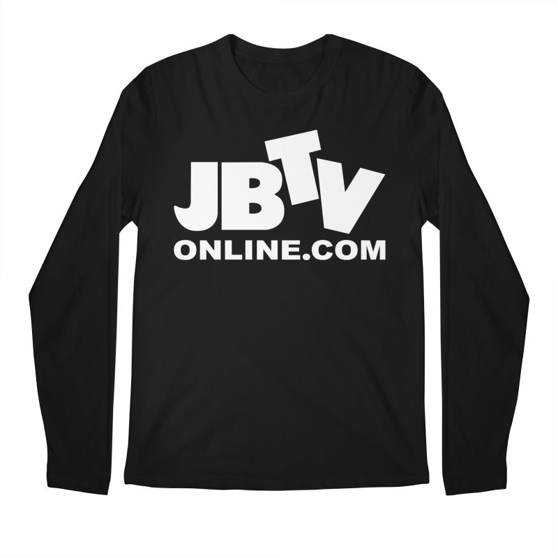 JBTV White Logo Men's Regular Longsleeve T-Shirt by JBTV
