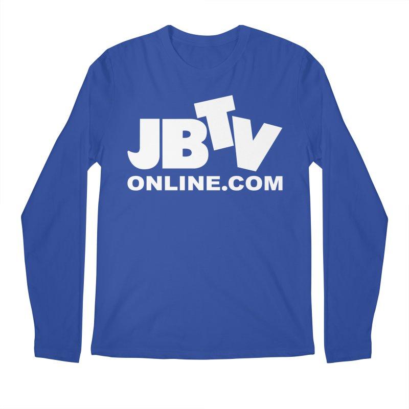 JBTV White Logo Men's Regular Longsleeve T-Shirt by JBTV's Artist Shop