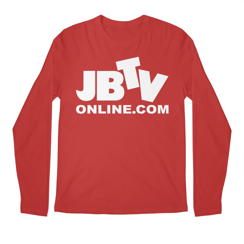 JBTV White Logo Men's Longsleeve T-Shirt by JBTV's Artist Shop