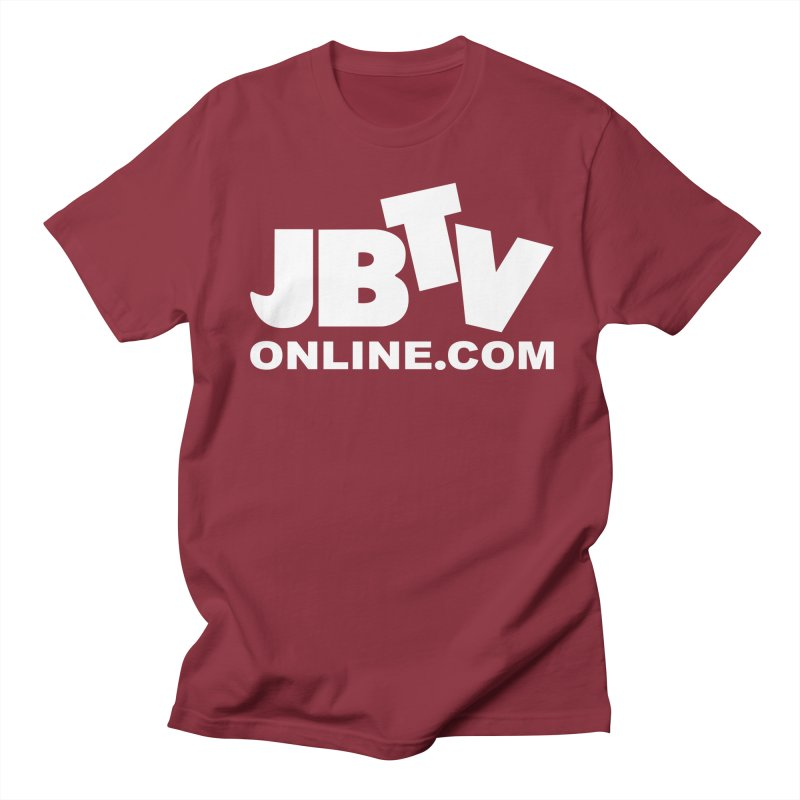 JBTV White Logo Men's T-Shirt by JBTV's Artist Shop