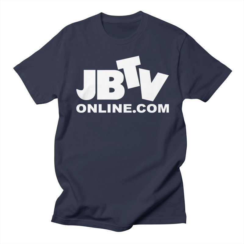 JBTV White Logo Men's Regular T-Shirt by JBTV