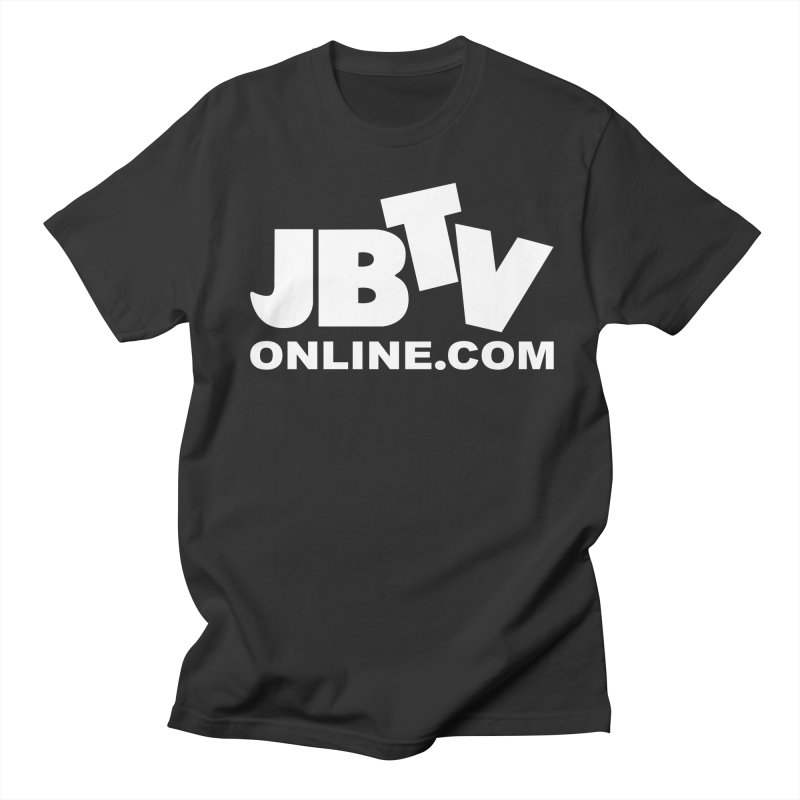 JBTV White Logo Men's Regular T-Shirt by JBTV's Artist Shop