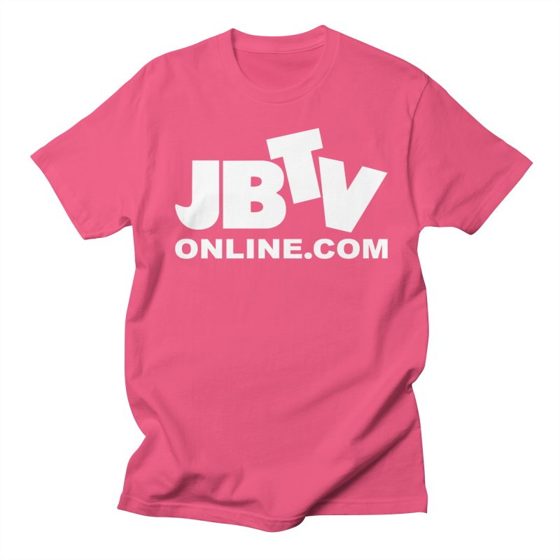 JBTV White Logo Women's Regular Unisex T-Shirt by JBTV