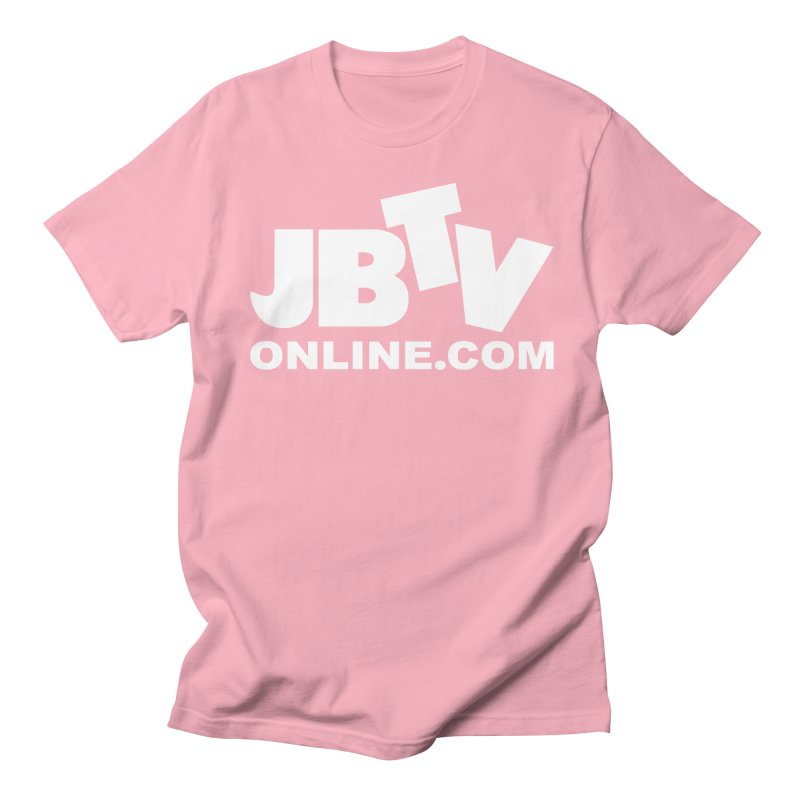 JBTV White Logo Men's Regular T-Shirt by JBTV's Artist Shop