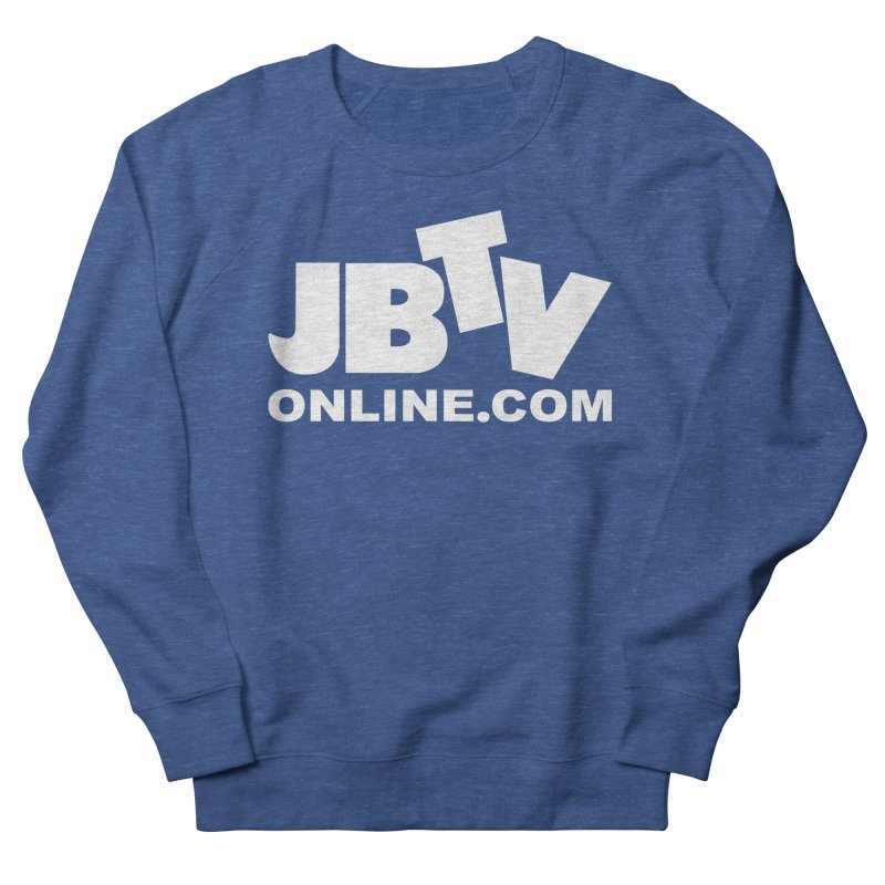 JBTV White Logo Women's French Terry Sweatshirt by JBTV