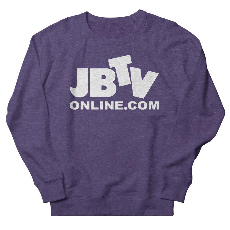 JBTV White Logo Women's Sweatshirt by JBTV's Artist Shop