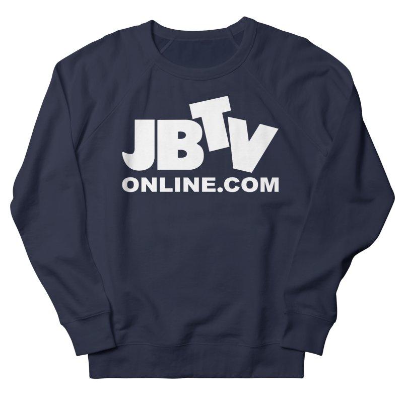 JBTV White Logo Women's French Terry Sweatshirt by JBTV's Artist Shop