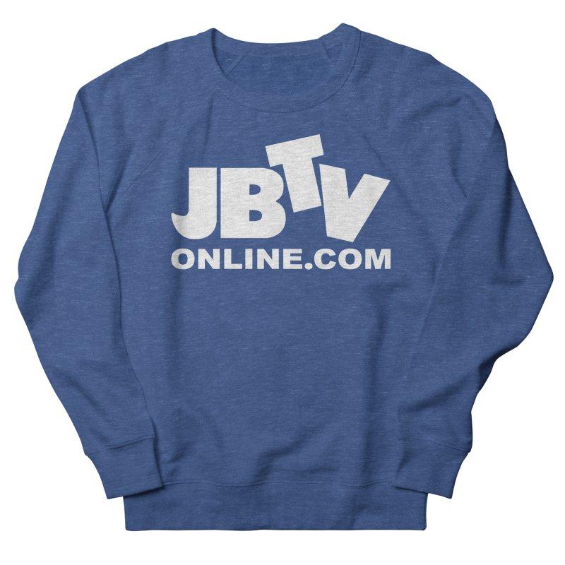 JBTV White Logo Men's French Terry Sweatshirt by JBTV's Artist Shop