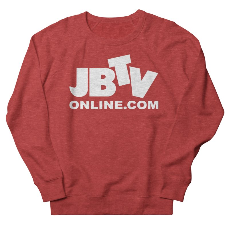 JBTV White Logo Men's French Terry Sweatshirt by JBTV