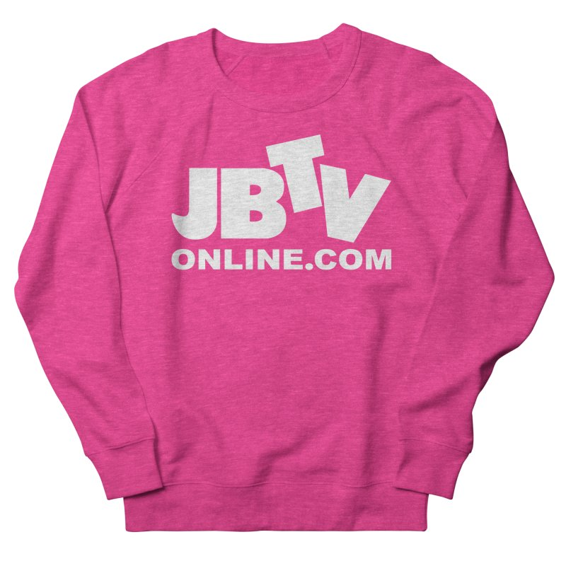 JBTV White Logo Men's Sweatshirt by JBTV's Artist Shop