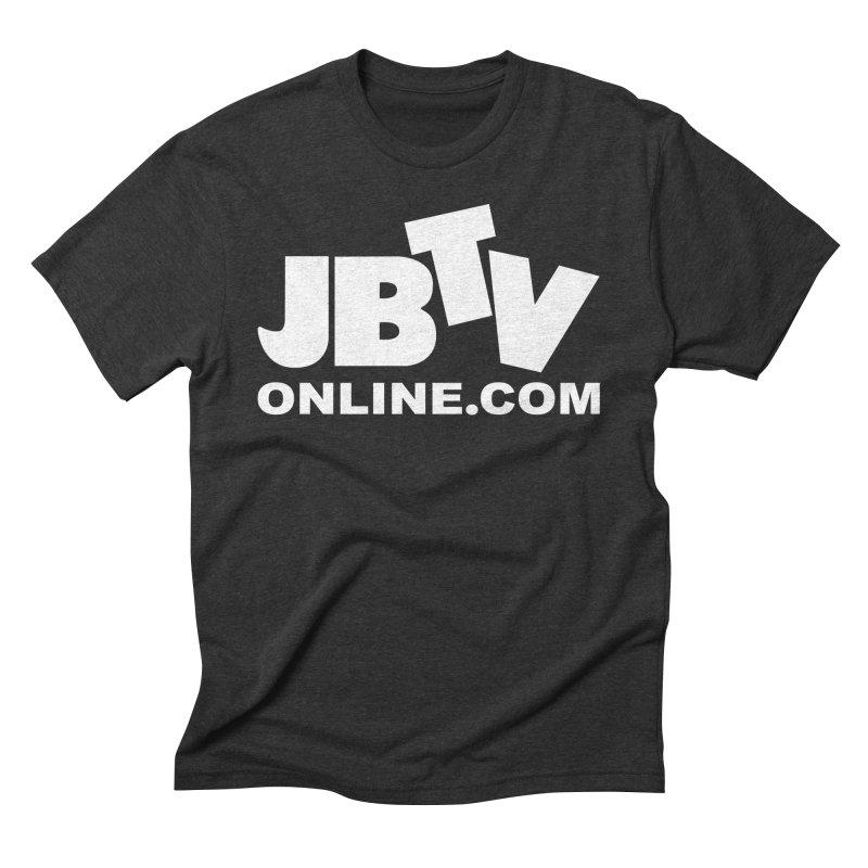 JBTV White Logo Men's Triblend T-Shirt by JBTV's Artist Shop