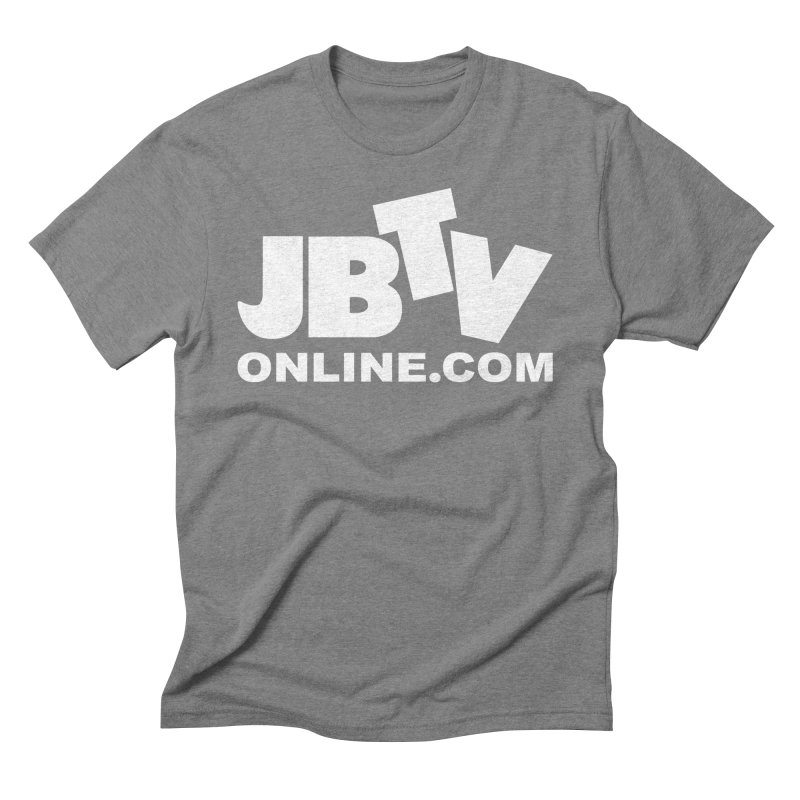 JBTV White Logo Men's Triblend T-Shirt by JBTV's Artist Shop