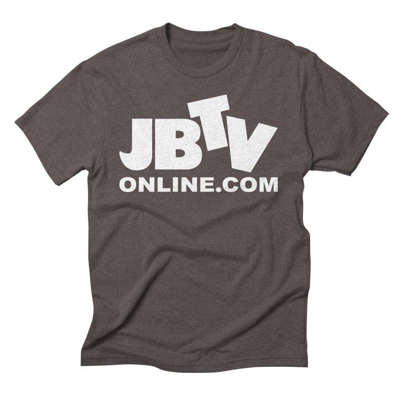 JBTV White Logo Men's Triblend T-Shirt by JBTV