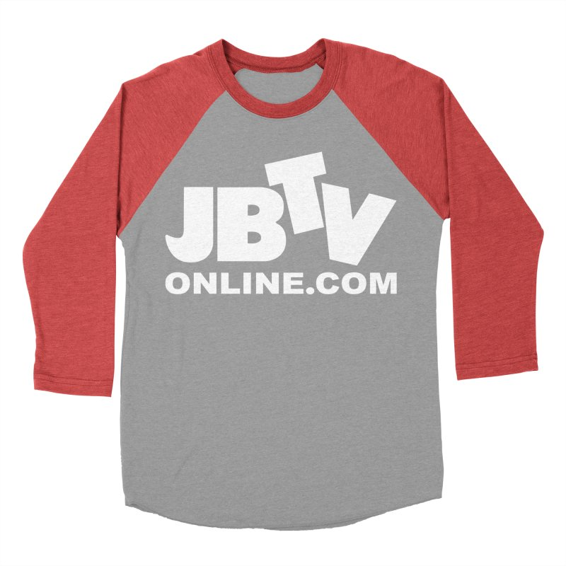 JBTV White Logo Women's Baseball Triblend Longsleeve T-Shirt by JBTV