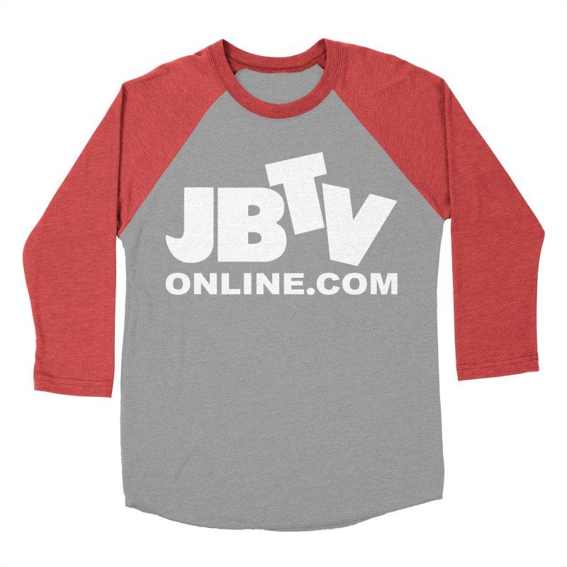 JBTV White Logo Women's Baseball Triblend Longsleeve T-Shirt by JBTV's Artist Shop