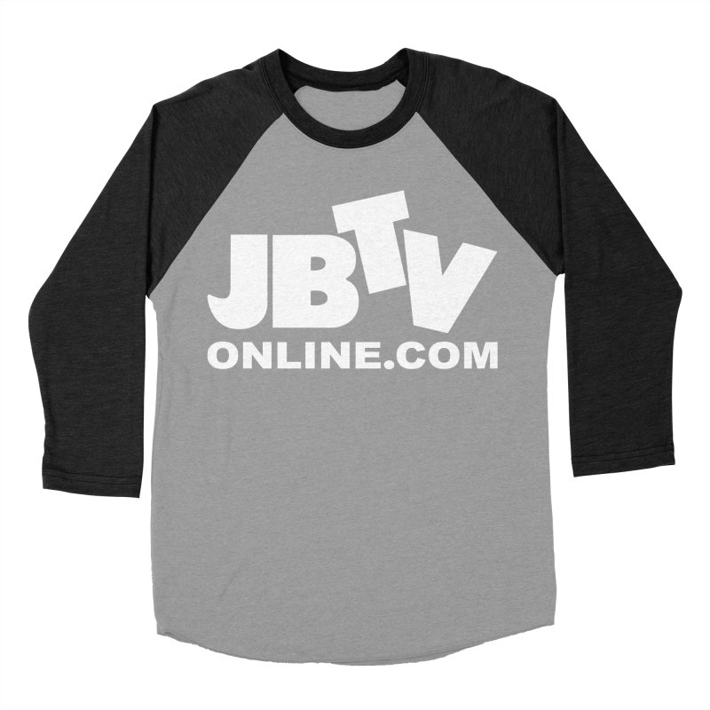 JBTV White Logo Men's Baseball Triblend T-Shirt by JBTV's Artist Shop