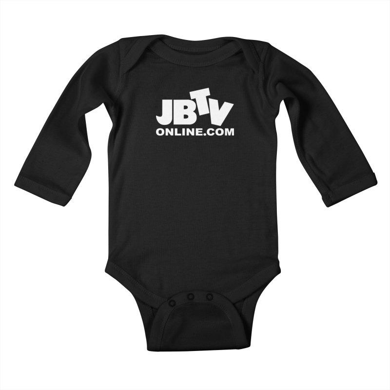 JBTV White Logo Kids Baby Longsleeve Bodysuit by JBTV