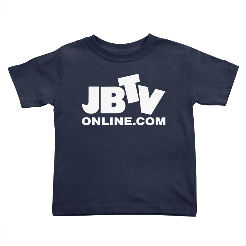 JBTV White Logo Kids Toddler T-Shirt by JBTV