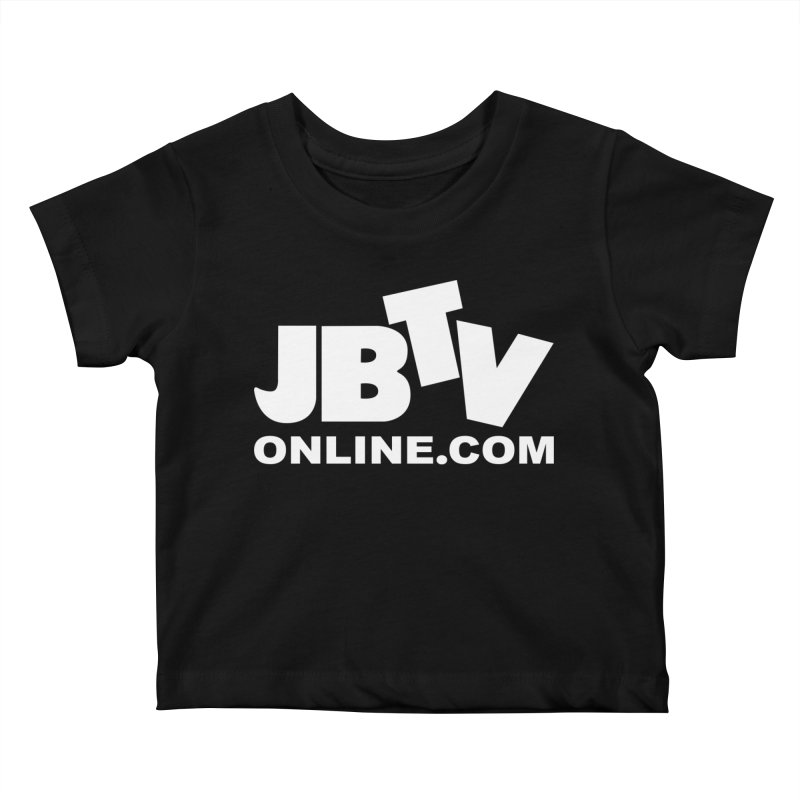 JBTV White Logo Kids Baby T-Shirt by JBTV's Artist Shop
