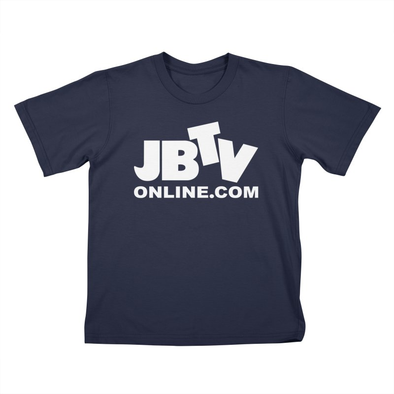JBTV White Logo Kids T-Shirt by JBTV's Artist Shop