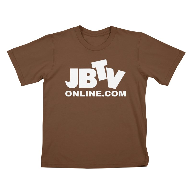 JBTV White Logo Kids T-Shirt by JBTV