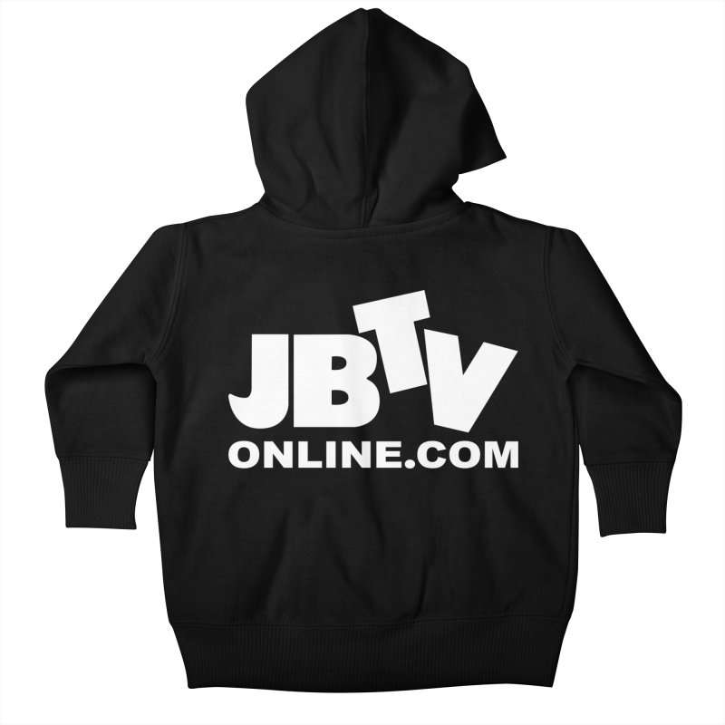 JBTV White Logo Kids Baby Zip-Up Hoody by JBTV