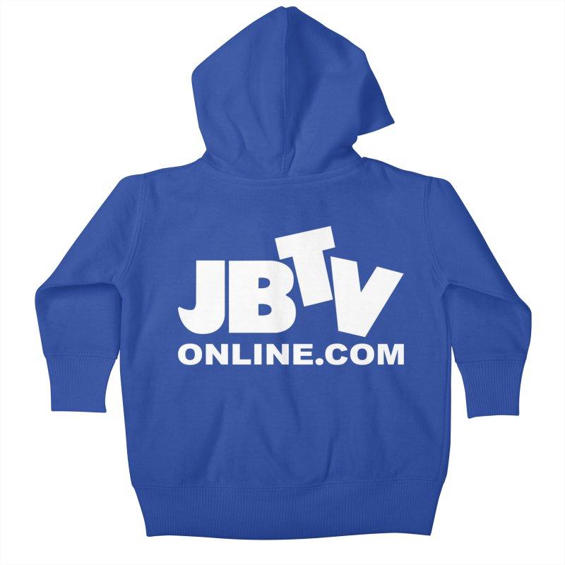 JBTV White Logo Kids Baby Zip-Up Hoody by JBTV's Artist Shop