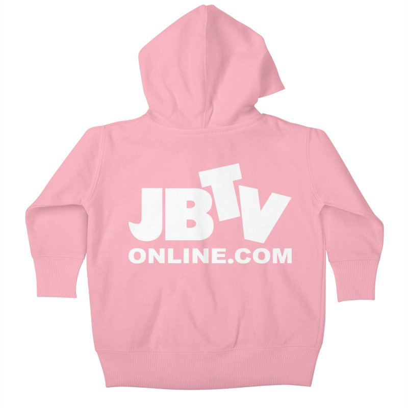 JBTV White Logo Kids Baby Zip-Up Hoody by JBTV's Artist Shop