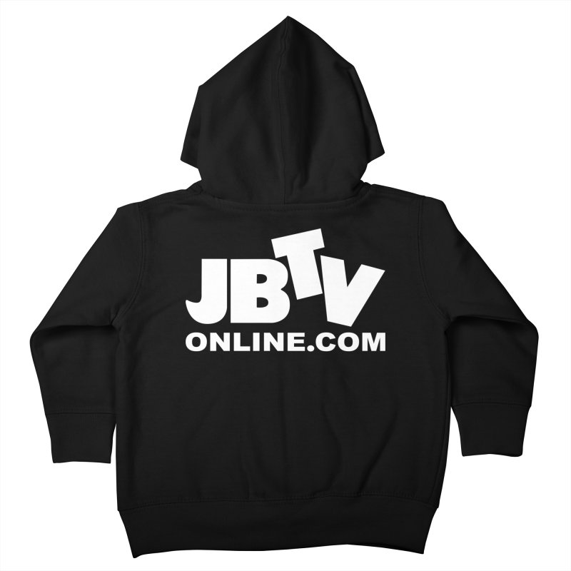 JBTV White Logo Kids Toddler Zip-Up Hoody by JBTV