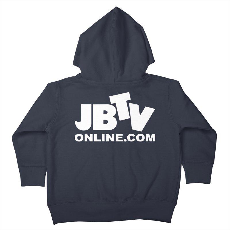 JBTV White Logo Kids Toddler Zip-Up Hoody by JBTV's Artist Shop
