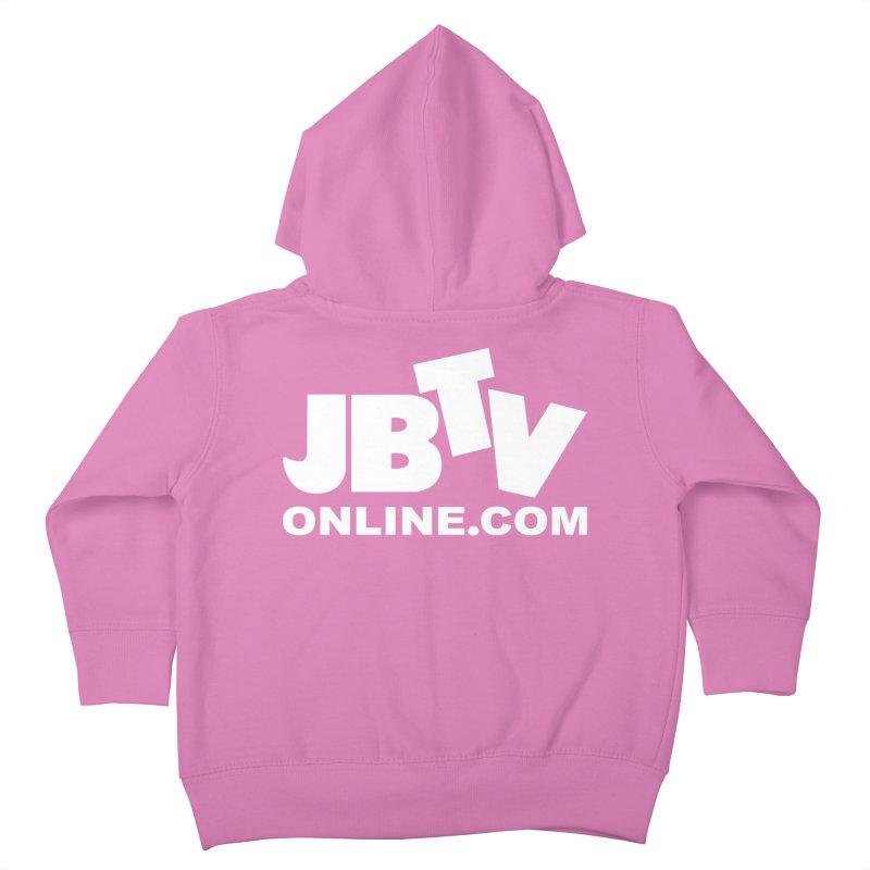 JBTV White Logo Kids Toddler Zip-Up Hoody by JBTV