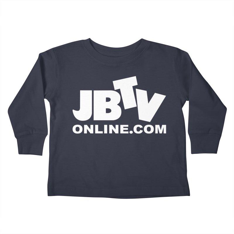 JBTV White Logo Kids Toddler Longsleeve T-Shirt by JBTV's Artist Shop