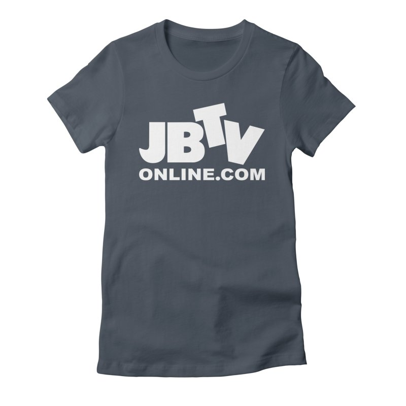 JBTV White Logo Women's T-Shirt by JBTV's Artist Shop