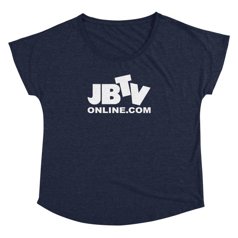 JBTV White Logo Women's Dolman by JBTV's Artist Shop