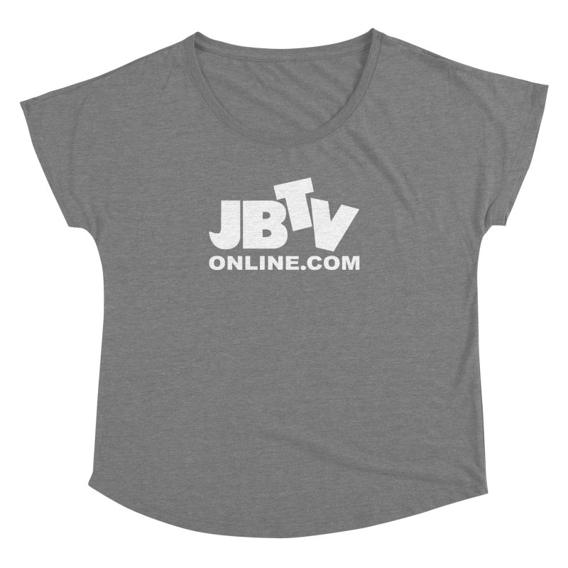 JBTV White Logo Women's Dolman Scoop Neck by JBTV