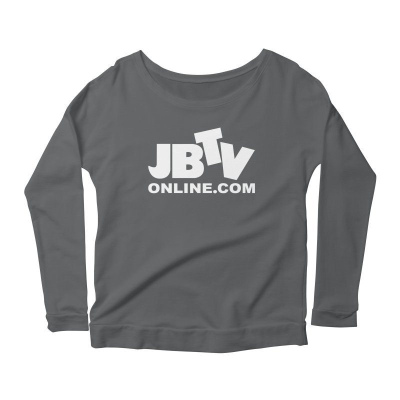 JBTV White Logo Women's Scoop Neck Longsleeve T-Shirt by JBTV