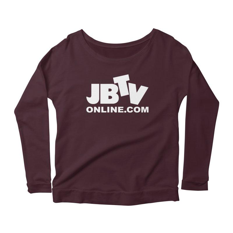 JBTV White Logo Women's Scoop Neck Longsleeve T-Shirt by JBTV's Artist Shop