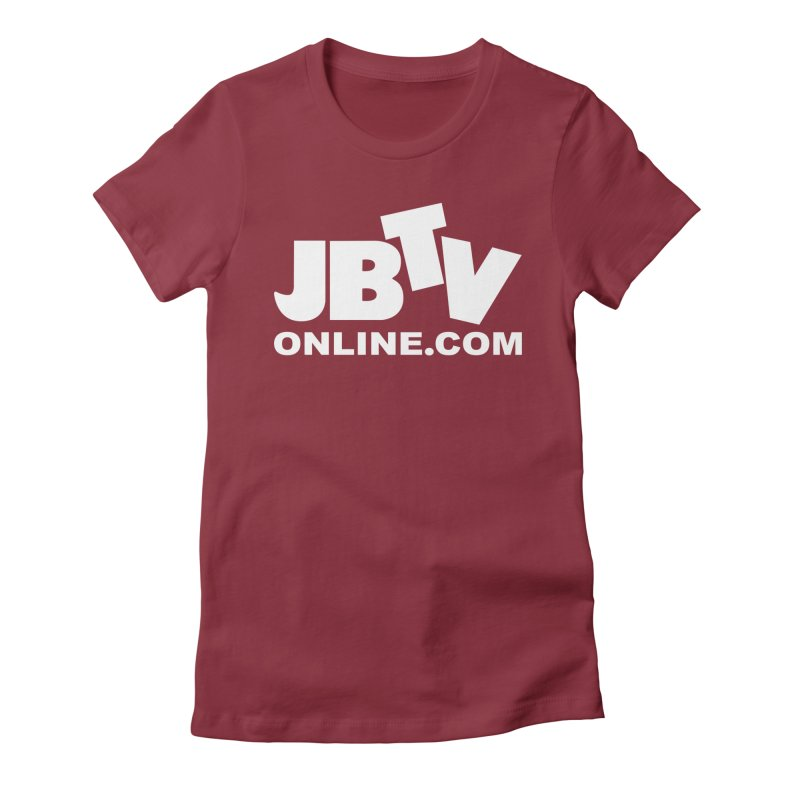 JBTV White Logo Women's Fitted T-Shirt by JBTV