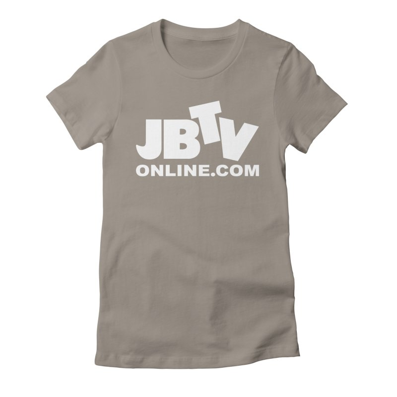 JBTV White Logo Women's Fitted T-Shirt by JBTV