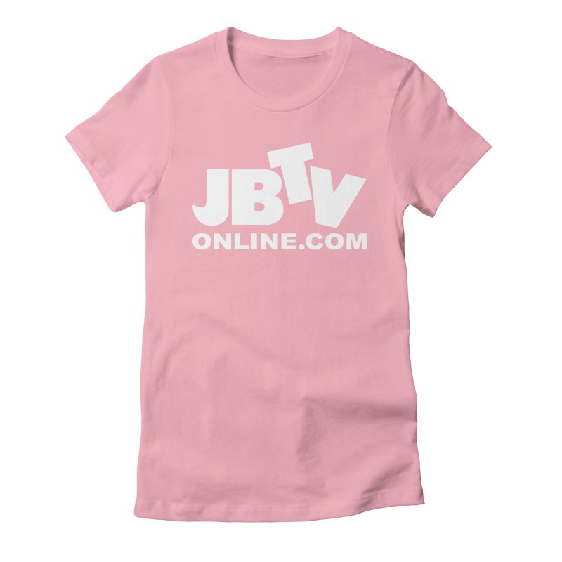 JBTV White Logo Women's Fitted T-Shirt by JBTV's Artist Shop