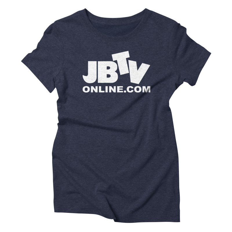 JBTV White Logo Women's Triblend T-Shirt by JBTV's Artist Shop