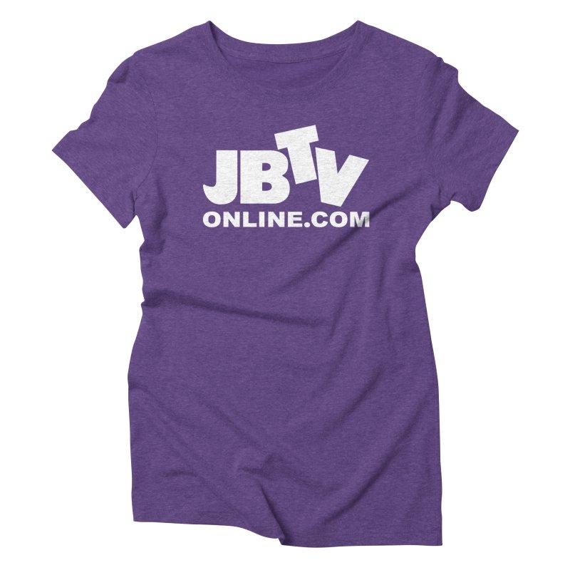 JBTV White Logo Women's Triblend T-Shirt by JBTV