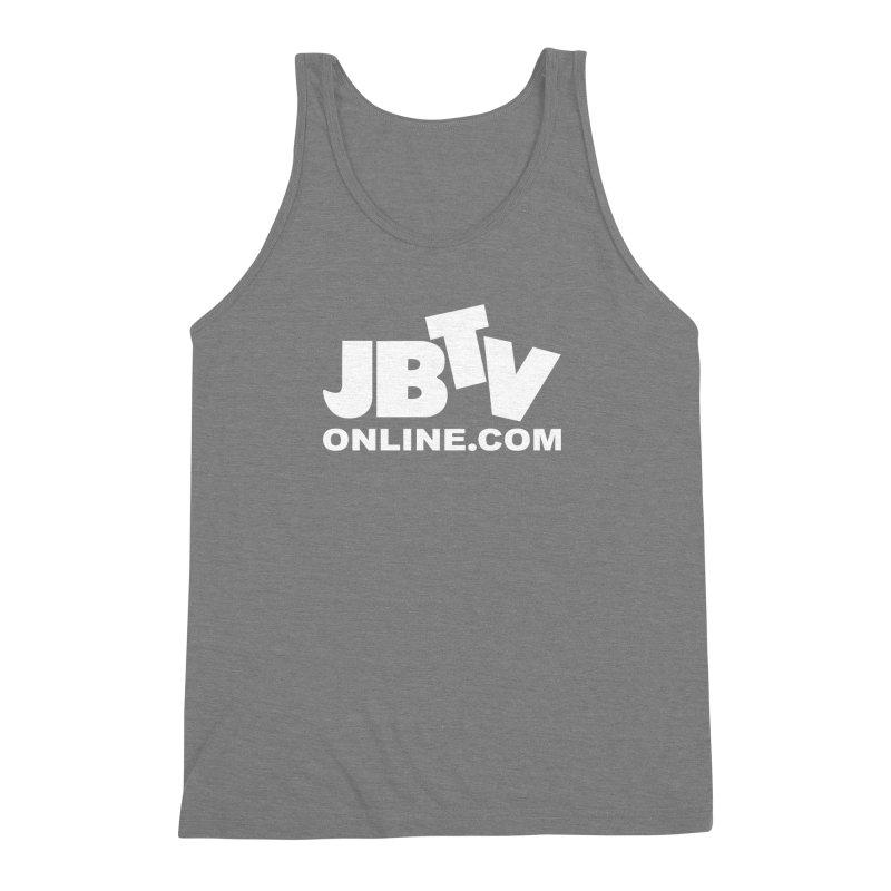JBTV White Logo Men's Triblend Tank by JBTV's Artist Shop