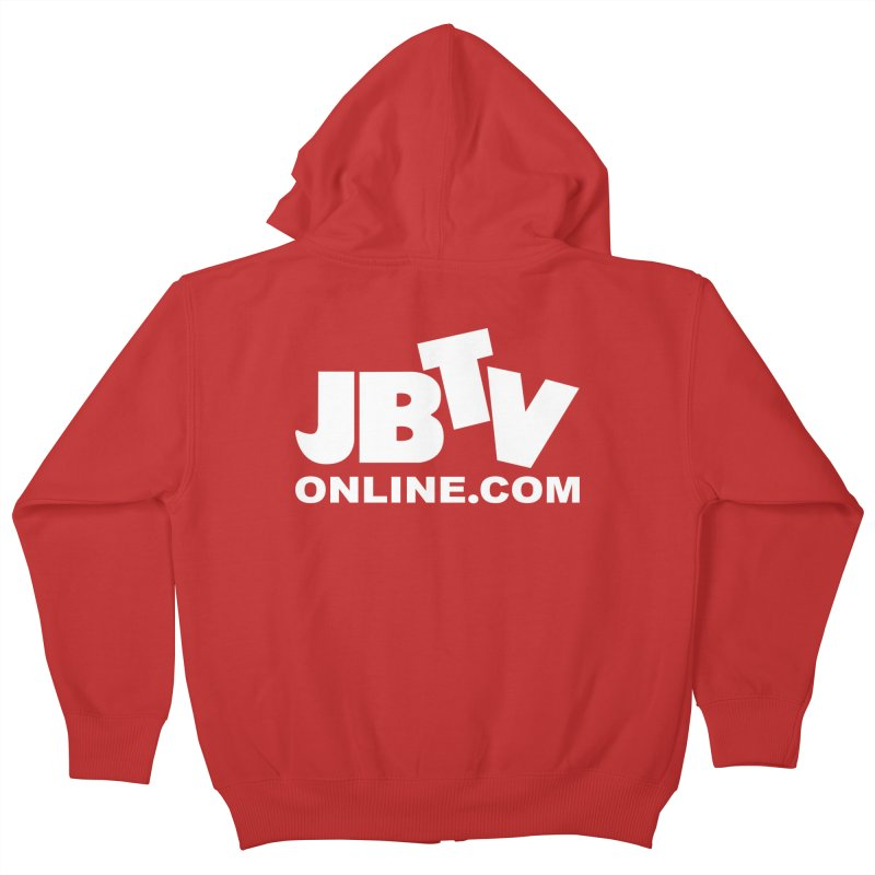 JBTV White Logo Kids Zip-Up Hoody by JBTV's Artist Shop