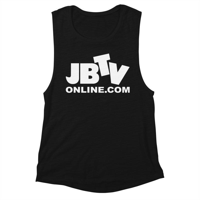 JBTV White Logo Women's Muscle Tank by JBTV