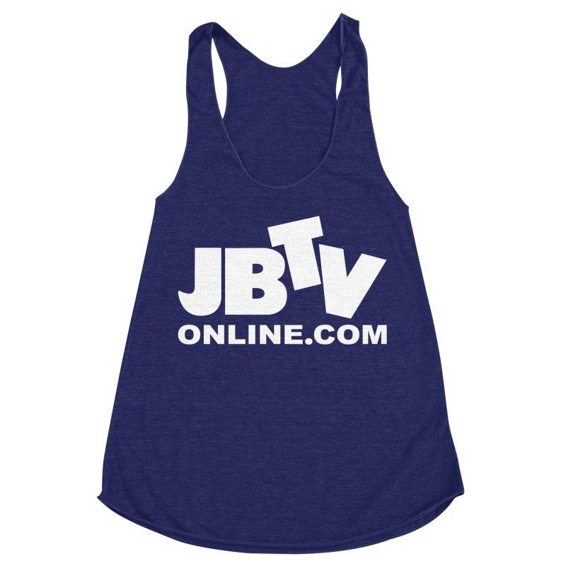 JBTV White Logo Women's Racerback Triblend Tank by JBTV