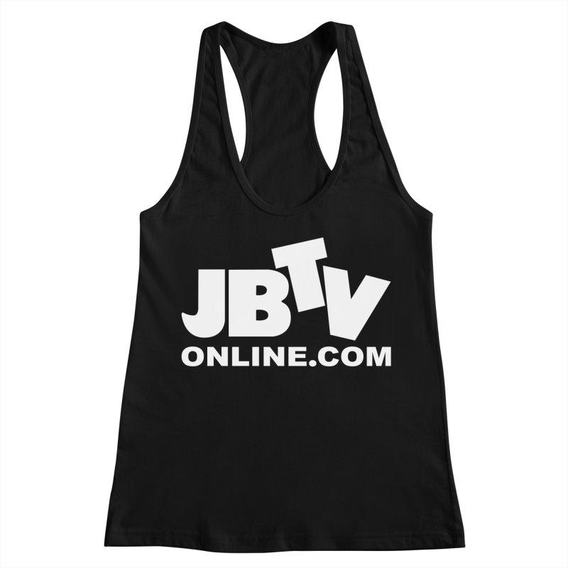 JBTV White Logo Women's Racerback Tank by JBTV