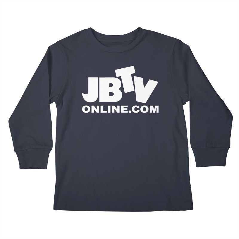 JBTV White Logo Kids Longsleeve T-Shirt by JBTV